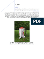 Kids Play Tent Tutorial Updated