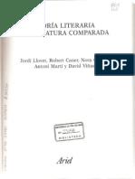 Teoria literaria y literatura comparada Jordi Llovet editorial Ariel año 2007 Barcelona