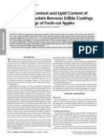 Whey Protein Isolate-Beeswax Edible Coatings on Fresh Apples