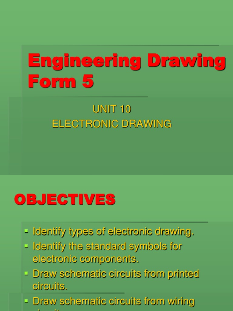 Engineering Drawing Form 5 final.ppt   Electronic Component ... on