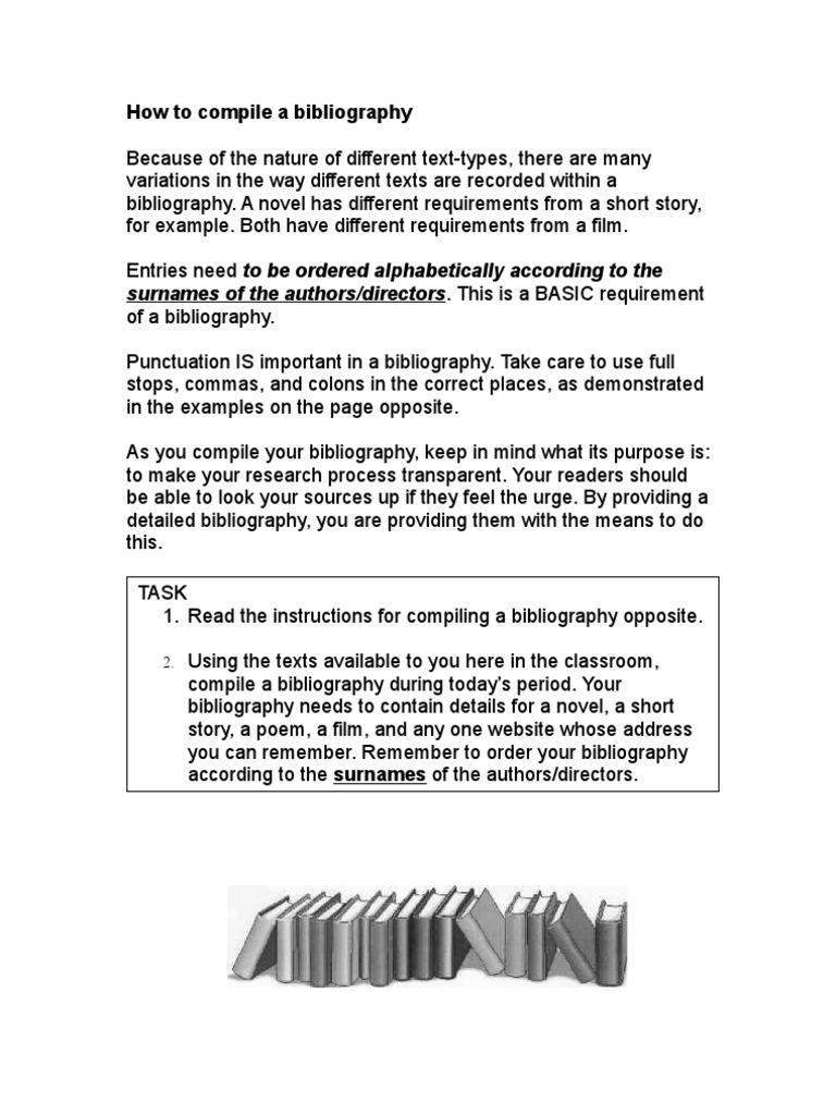 What is a bibliography, its types What are the requirements for a bibliographic description 54
