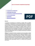 Lo Epistemologico Formacion Competente Del Psicologo