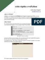 Introduccion Rapida a WxPython