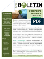 Boletin de Desarrollo Desempeno Ambiental 2012