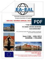 Program AEA-EAL Gdansk 13-15 juin 2013