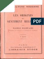 Les origines du sentiment religieux Halbwachs.pdf