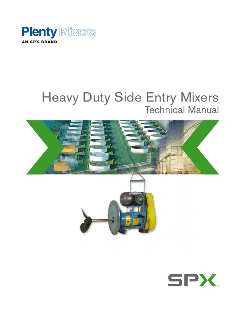 SPX-Plenty Mixer pdf | Gear | Bearing (Mechanical)