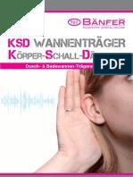 Prospekt KSD Wannengestelle