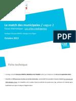 Sondage Municipales 2014 sur les attentes des français en termes de numérique