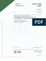 ABNT NBR - 6024 (2012) - Informação e documentação - Numeração  progressiva das seções de um documento