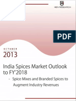 India Spices Market Outlook to FY'2018 – Spice Mixes and Branded Spices to Augment Industry Revenues