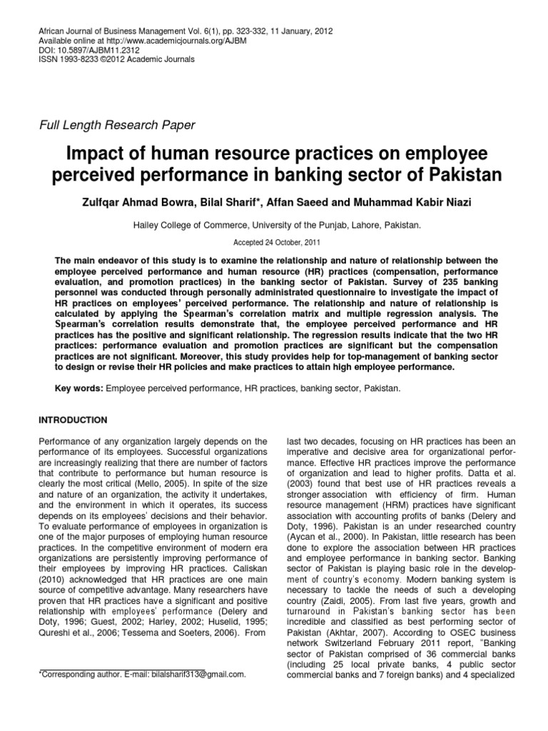 performance evaluation of a private bank Performance evaluation of the banking sector in bangladesh: a comparative analysis have positive relationship with the financial performance of the bank and.