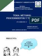 A Metodos Procedimiento y Tecnicas