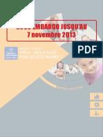Rapport annuel du Secours catholique du 7 novembre 2013
