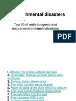 Topic 7 Environmental Disasters