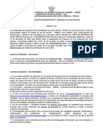 Edital n 24 - PPGAC-UNIRIO Mestrado 2012