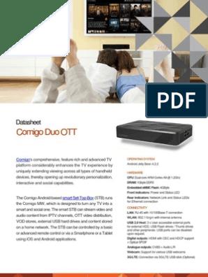 Comigo Duo OTT | Set Top Box | Usb