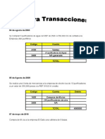 Contra transacciones