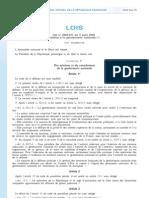 LOI n° 2009-971 du 3 août 2009 relative à la gendarmerie nationale