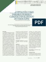 La precipitación como variable de riesgo climático en el estado de Tamaulipas