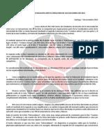 Declaración Pública ante resultados de la segunda vuelta de las Elecciones CED