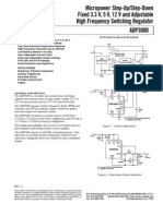 adp3000 Analog High Freq Switching Regulator