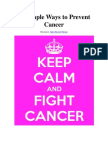 How To Reduce Your Chances Of Getting Cancer