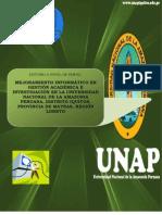Proyecto Snip Mejoramiento Informatico en Gestion Academica e Investigacion 2