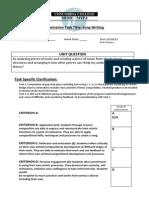 ib myp task sheet year 9 sim