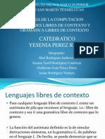 teoria LENGUAJES LIBRES DE CONTEXTO Y GRAMATICA LIBRES DE CONTEXTO