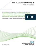 Nasir et al (2013) Facilitating knowledge exchange between health-care sectors, organisations and professions