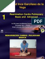 1.- Reanimacion Basica y Avanzada 2013