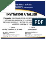 Invitación a Taller