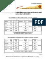 Beneficio salarial y socioecon�mico del personal docente 2013