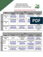 ALOCAÇÃO DE TUTORES E FORMADORES -DISCIPLINAS DO  2º SEMESTRE DE 2013 PARA 4º SEMESTRE  PEDAGOGIA