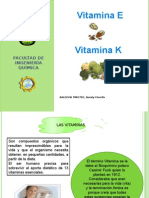 Vitamina E y Vitamina K