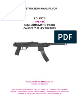 PPS-43 manual | Handgun | Magazine (Firearms)