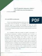 05.Adolescentes y MMPI-A. Dra. Lucio 2003