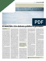 Cristina Garrido - El MACBA Debate público o privado