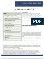 ENG - Lesson 4   Create a personal history