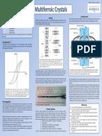 Multiferroic Crystals poster