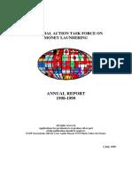 FATF ◊ GAFI. Annual Report 1998 - 1999.
