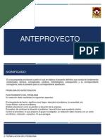 Anteproyecto y Contrato
