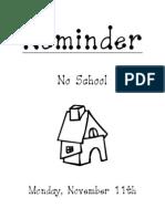 flyer-no school-nov 11 2013
