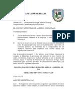 Ordenanzas Municipales Antiguo Cuscatlan