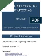Arp Spoofing Slides
