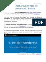 Como Instalar WordPress Sin Conocimientos Tecnicos - Curso Gratis Como Crear Un Blog