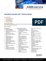 Cadlearning Autodesk Inventor 2011 Outline