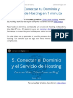 Como Conectar Tu Dominio y Servicio de Hosting - Curso Gratis Como Crear Un Blog