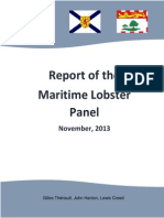 Report of the Maritime Lobster Panel